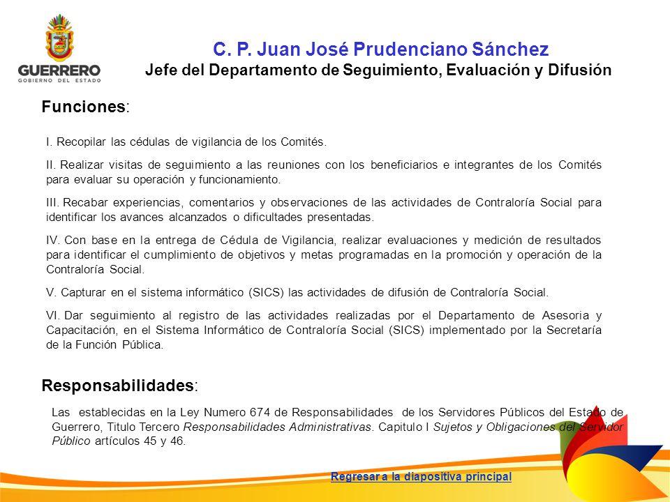 C. P. Juan José Prudenciano Sánchez