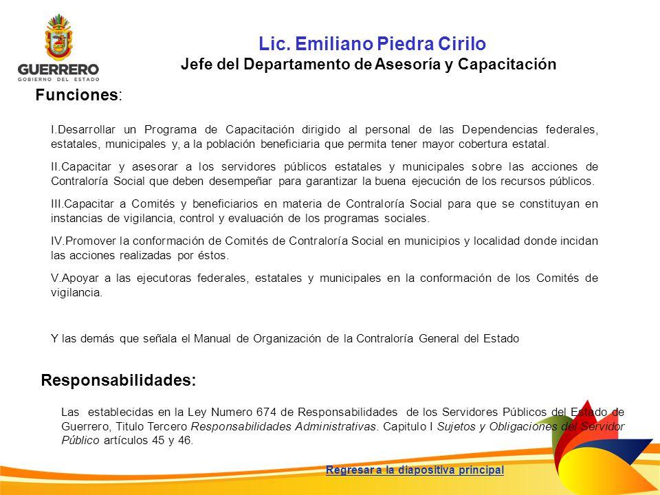 Lic. Emiliano Piedra Cirilo