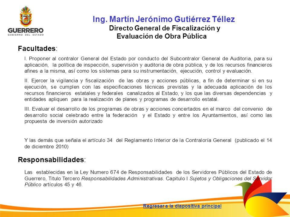 Ing. Martín Jerónimo Gutiérrez Téllez
