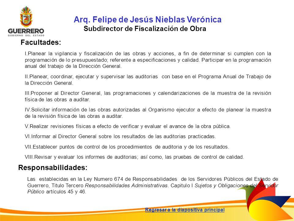 Arq. Felipe de Jesús Nieblas Verónica