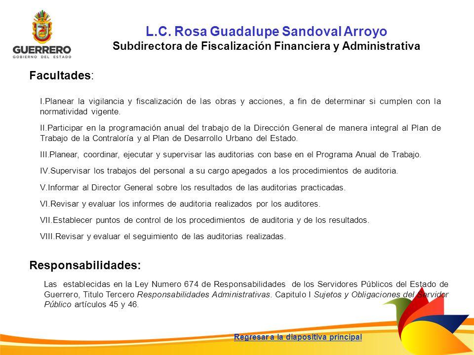 L.C. Rosa Guadalupe Sandoval Arroyo
