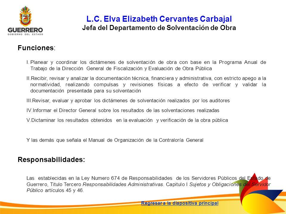L.C. Elva Elizabeth Cervantes Carbajal