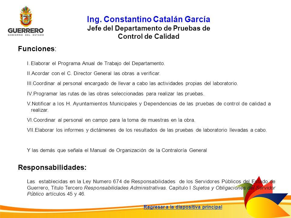 Ing. Constantino Catalán García