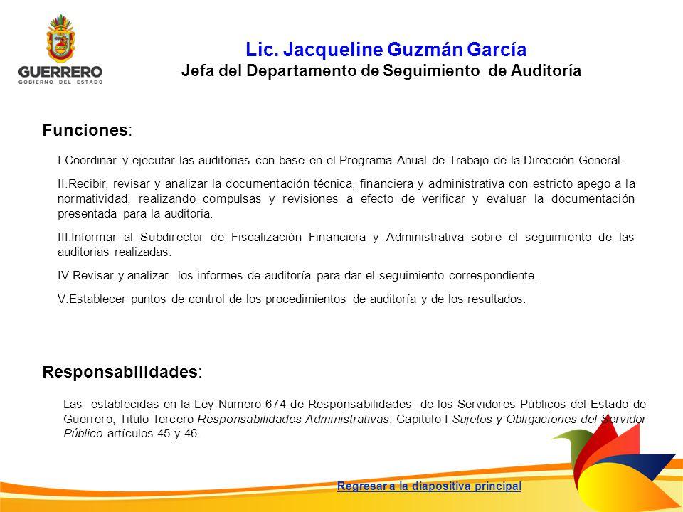 Lic. Jacqueline Guzmán García