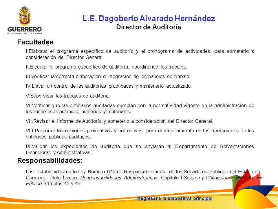 L.E. Dagoberto Alvarado Hernández