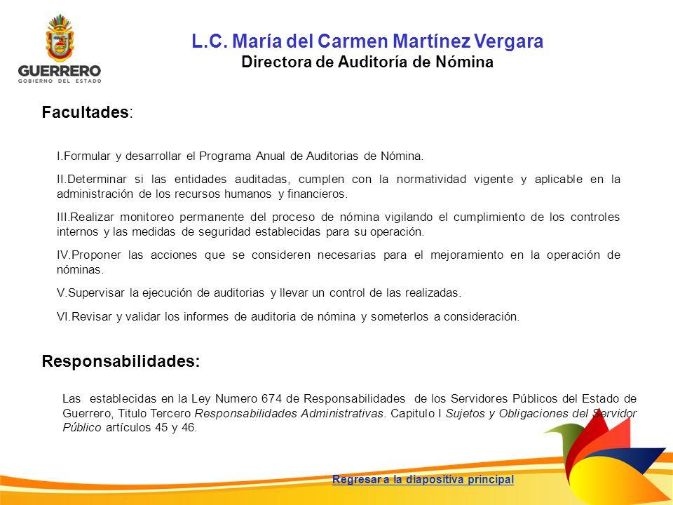 L.C. María del Carmen Martínez Vergara