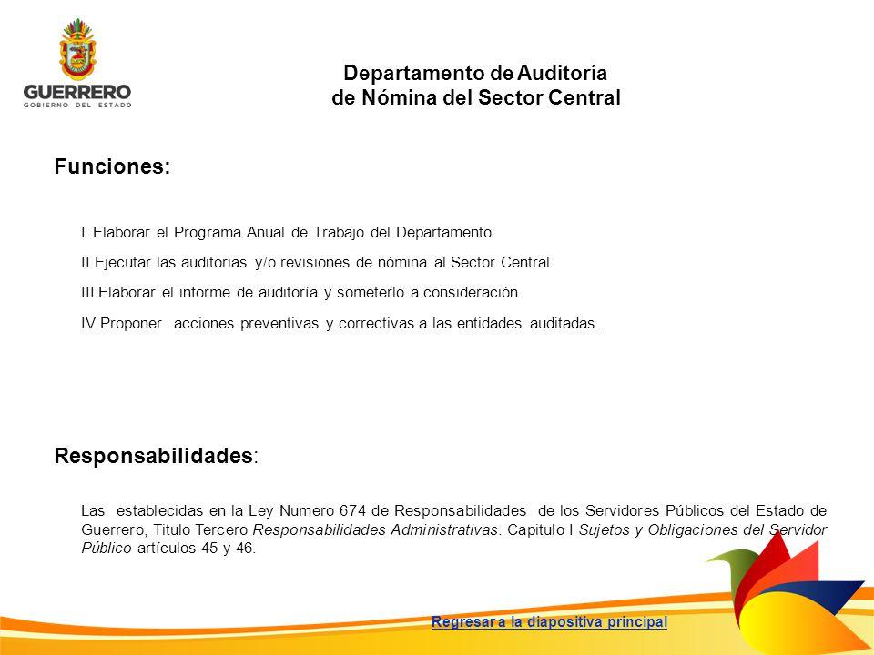 Departamento de Auditoría de Nómina del Sector Central