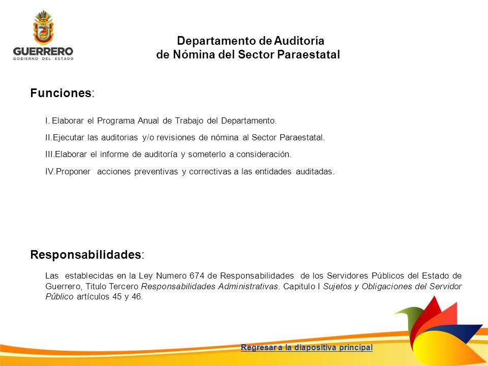 Departamento de Auditoría de Nómina del Sector Paraestatal