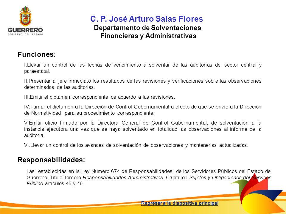 C. P. José Arturo Salas Flores