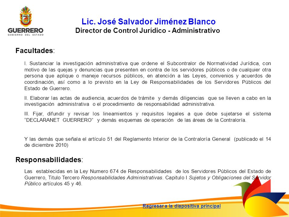 Lic. José Salvador Jiménez Blanco