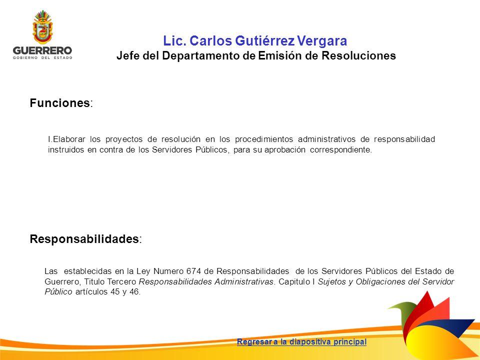 Lic. Carlos Gutiérrez Vergara