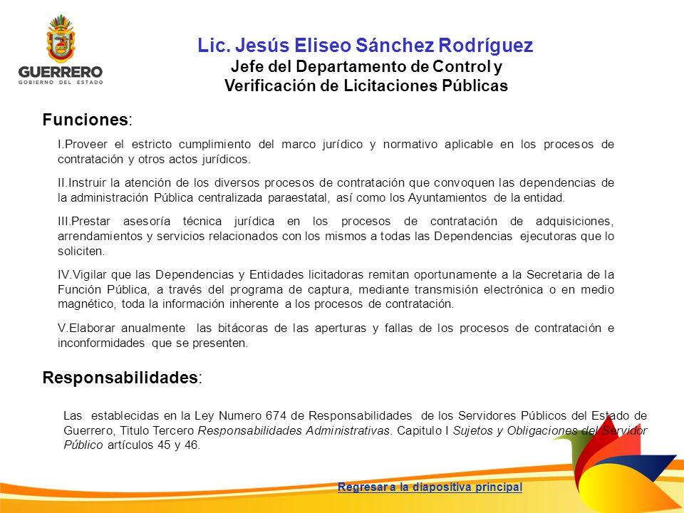 Lic. Jesús Eliseo Sánchez Rodríguez