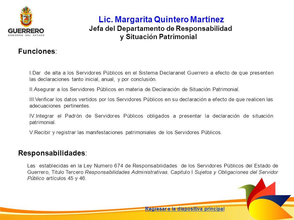 Lic. Margarita Quintero Martínez