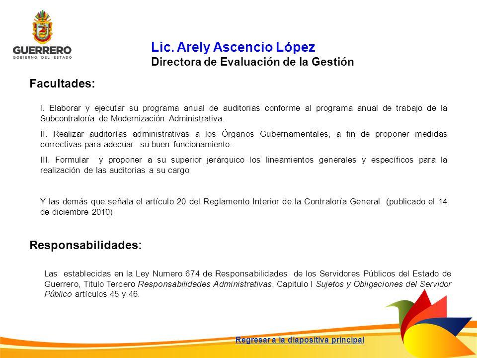 Lic. Arely Ascencio López