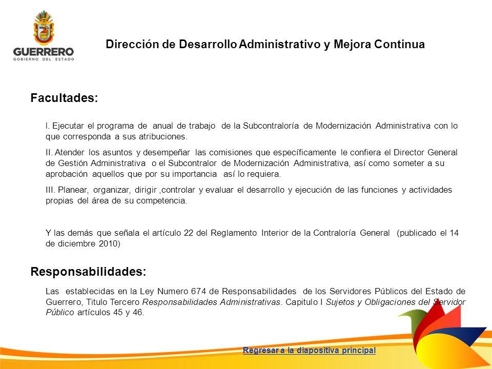 Dirección de Desarrollo Administrativo y Mejora Continua