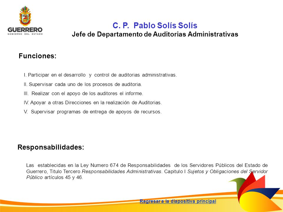 Jefe de Departamento de Auditorias Administrativas