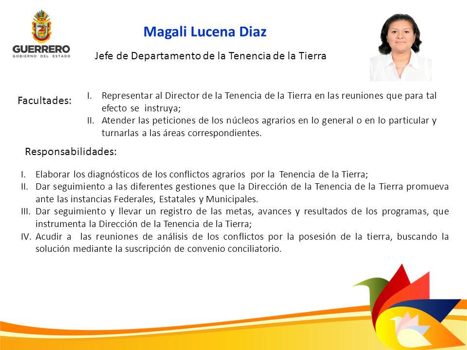 Magali Lucena Diaz Jefe de Departamento de la Tenencia de la Tierra