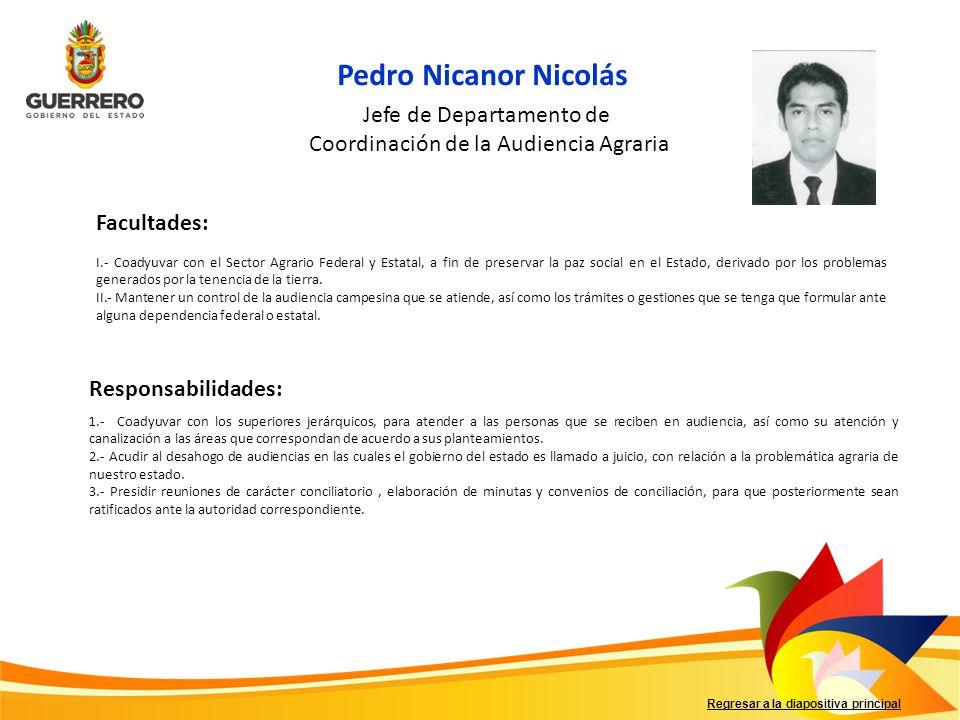 Pedro Nicanor Nicolás Jefe de Departamento de