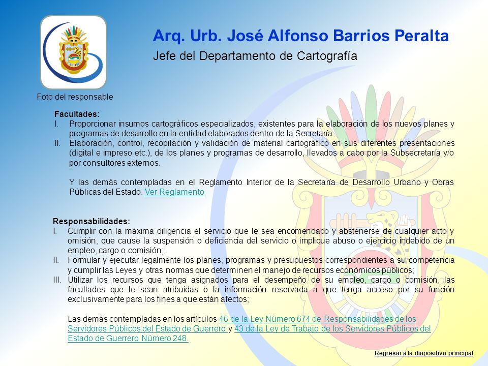 Arq. Urb. José Alfonso Barrios Peralta
