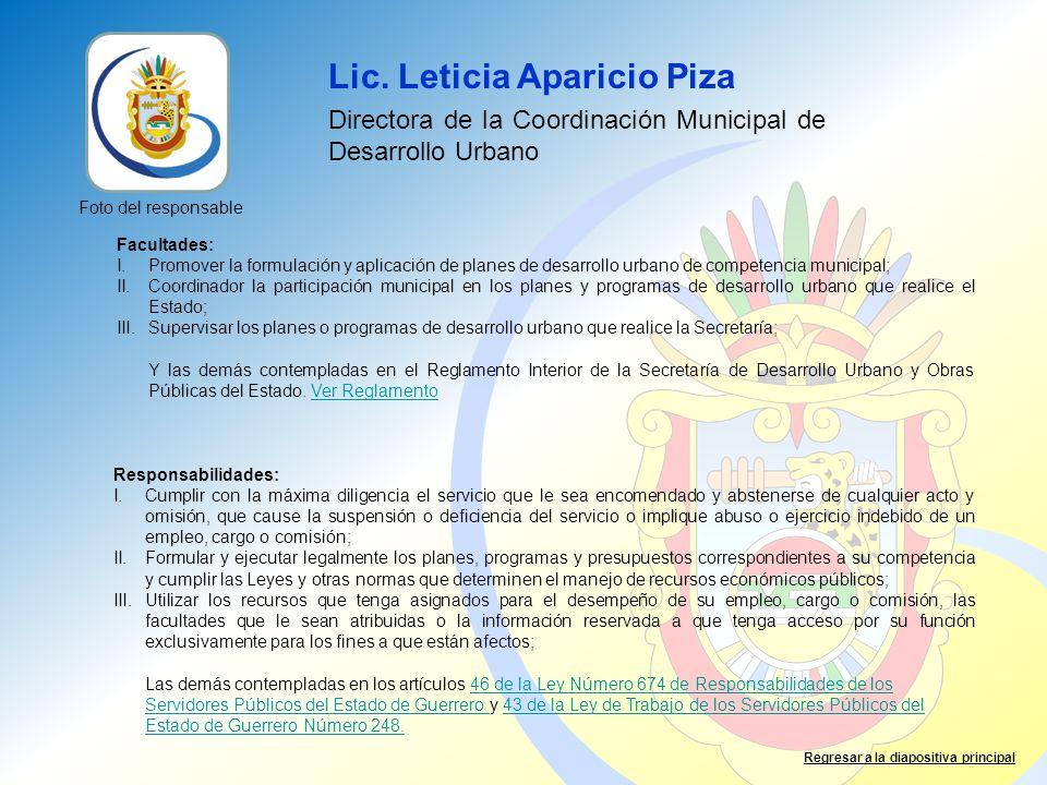 Lic. Leticia Aparicio Piza