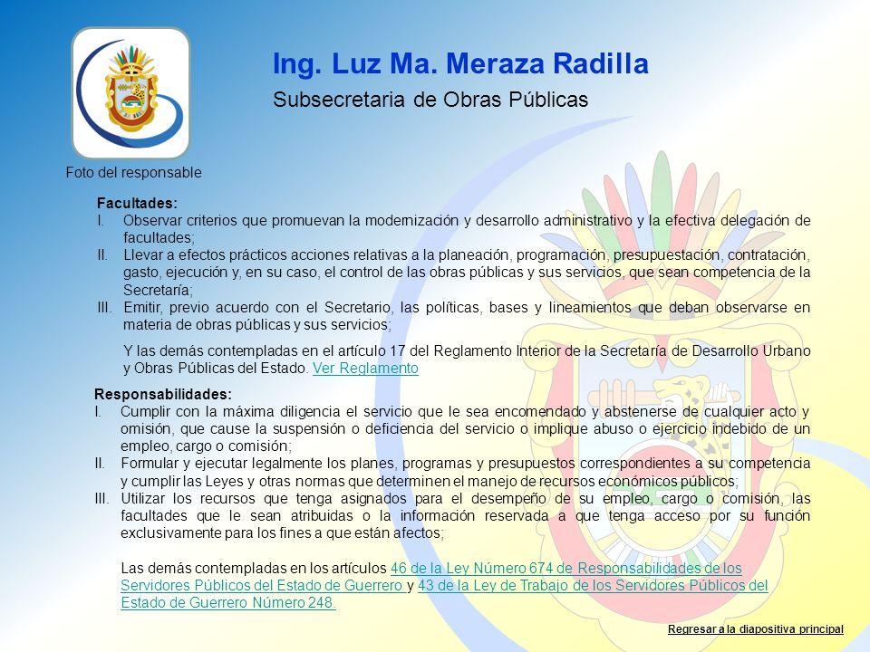 Ing. Luz Ma. Meraza Radilla