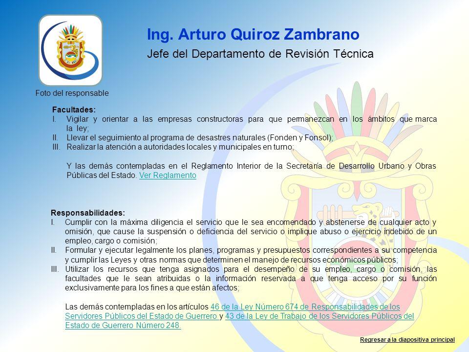 Ing. Arturo Quiroz Zambrano