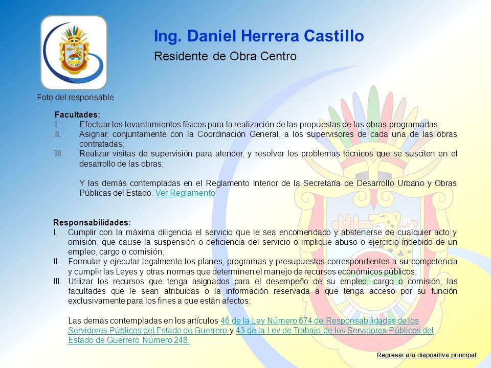 Ing. Daniel Herrera Castillo