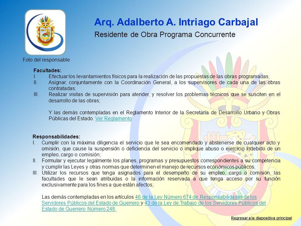 Arq. Adalberto A. Intriago Carbajal