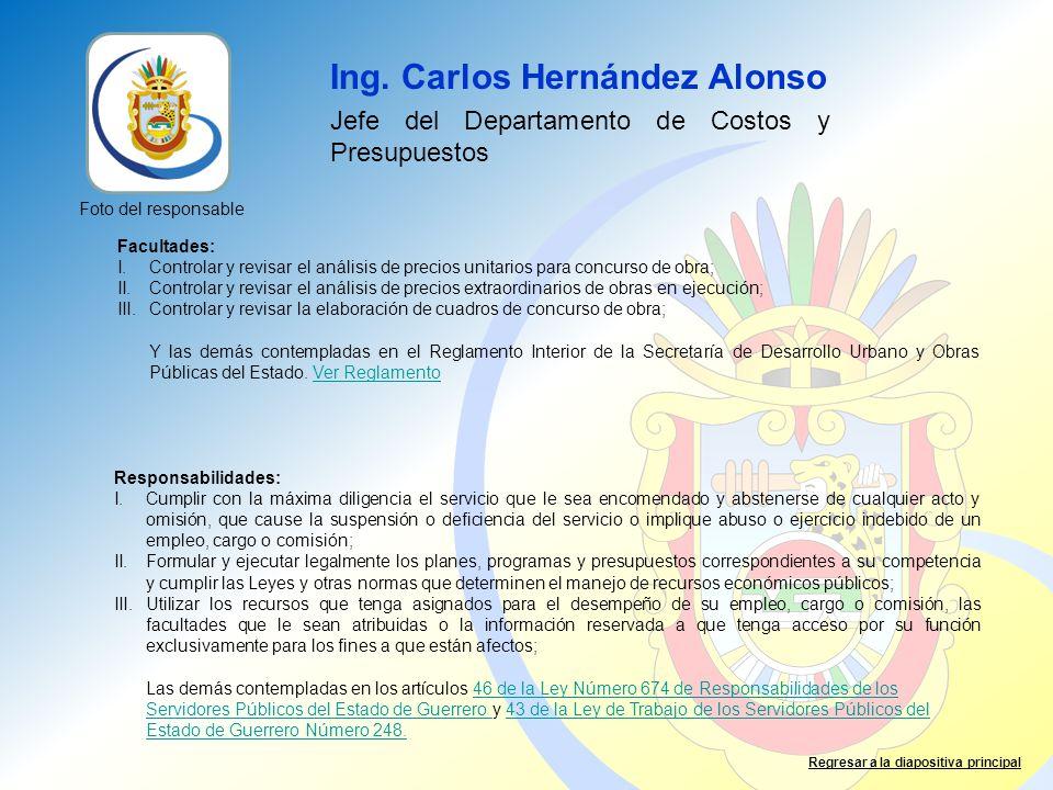 Ing. Carlos Hernández Alonso