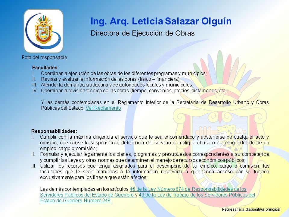 Ing. Arq. Leticia Salazar Olguín