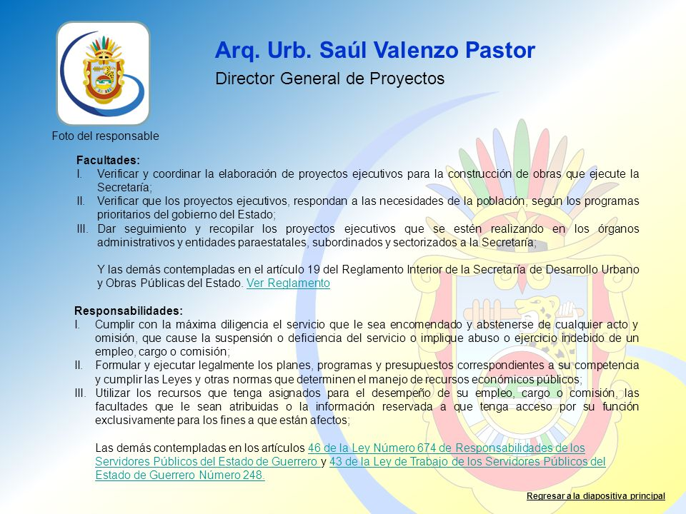 Arq. Urb. Saúl Valenzo Pastor