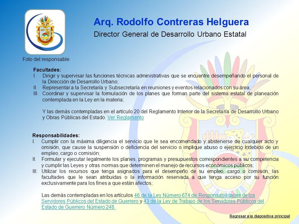 Arq. Rodolfo Contreras Helguera