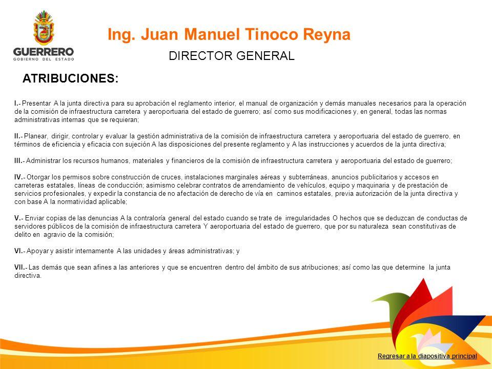 Ing. Juan Manuel Tinoco Reyna