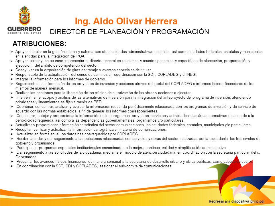 DIRECTOR DE PLANEACIÓN Y PROGRAMACIÓN