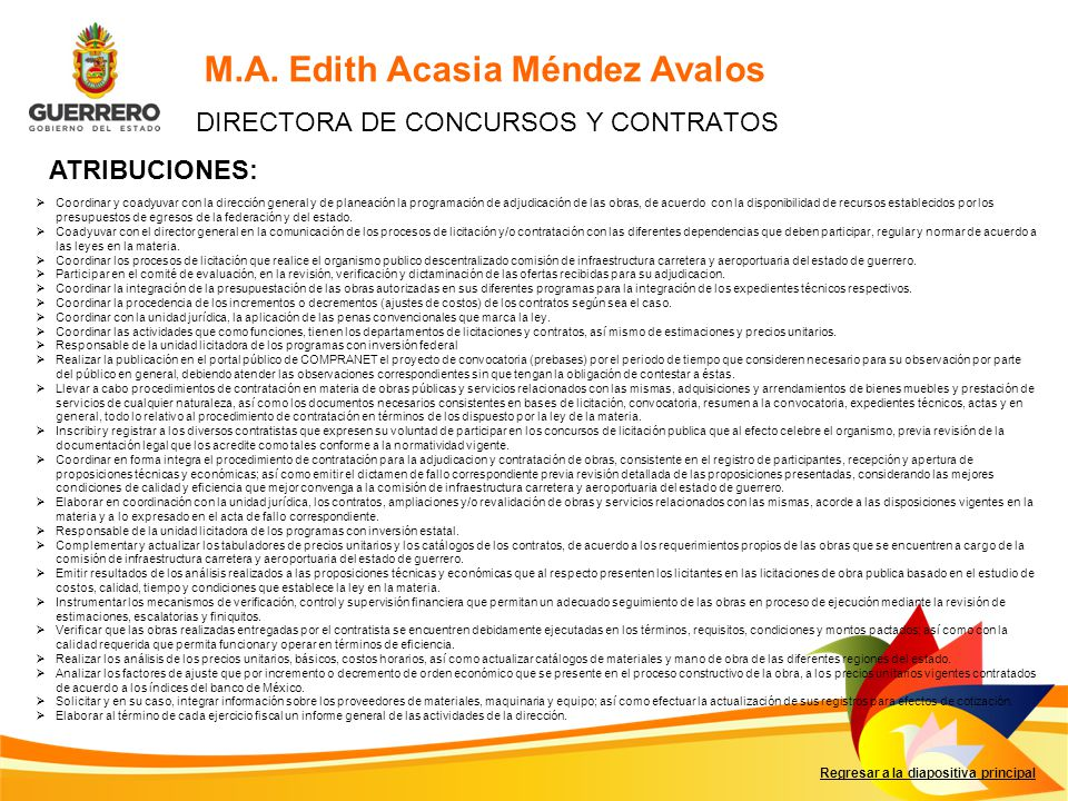 DIRECTORA DE CONCURSOS Y CONTRATOS