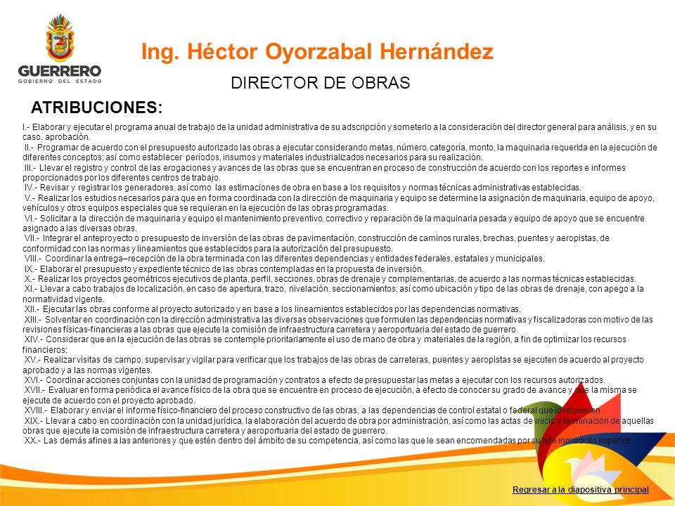 Ing. Héctor Oyorzabal Hernández
