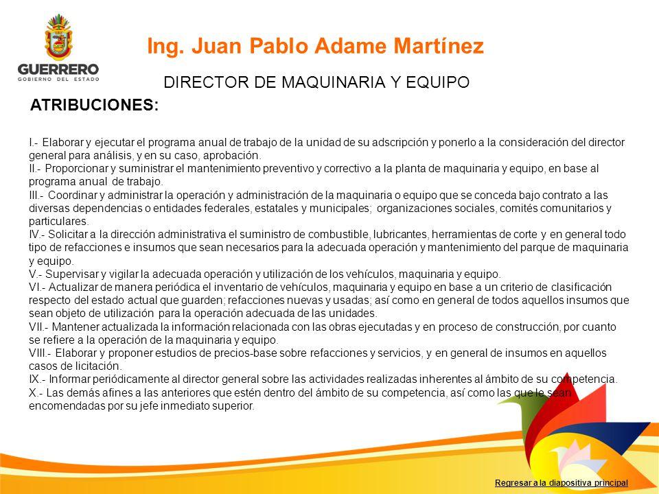 DIRECTOR DE MAQUINARIA Y EQUIPO