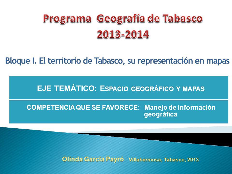 Programa Geografía de Tabasco 2013-2014