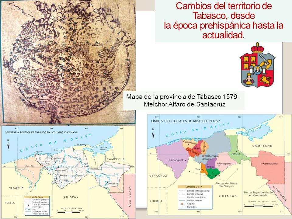 Cambios del territorio de Tabasco, desde