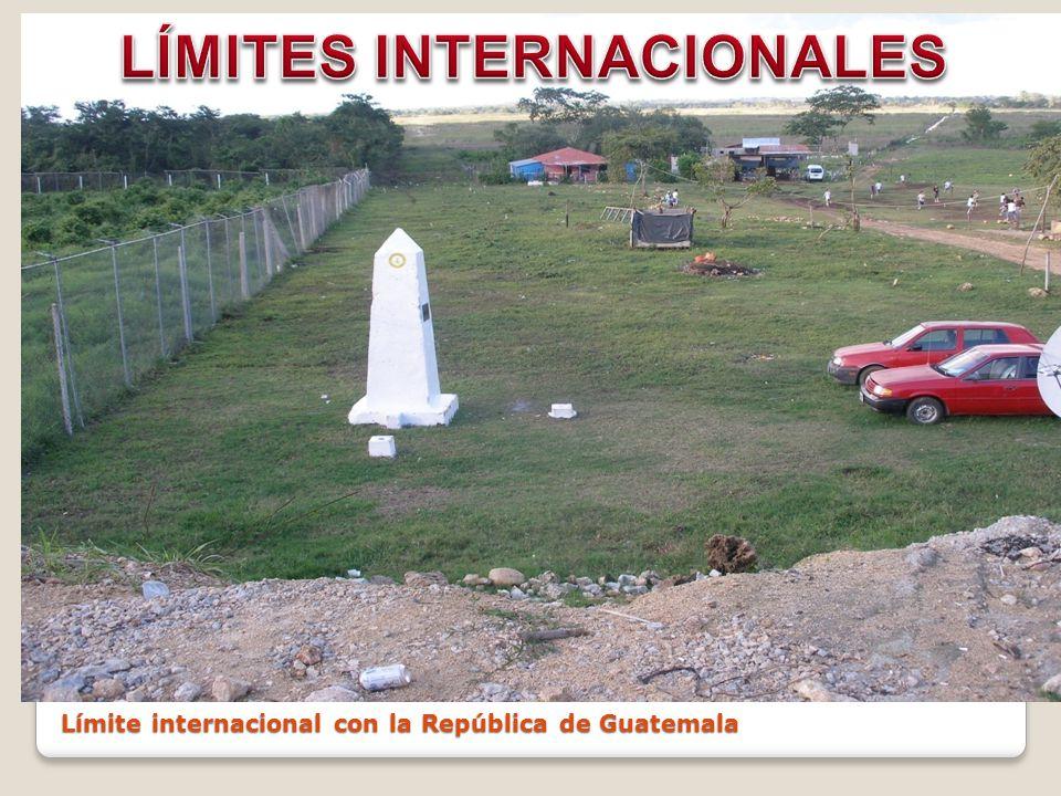 Límite internacional con la República de Guatemala