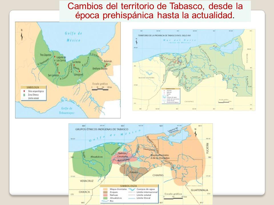 Cambios del territorio de Tabasco, desde la época prehispánica hasta la actualidad.