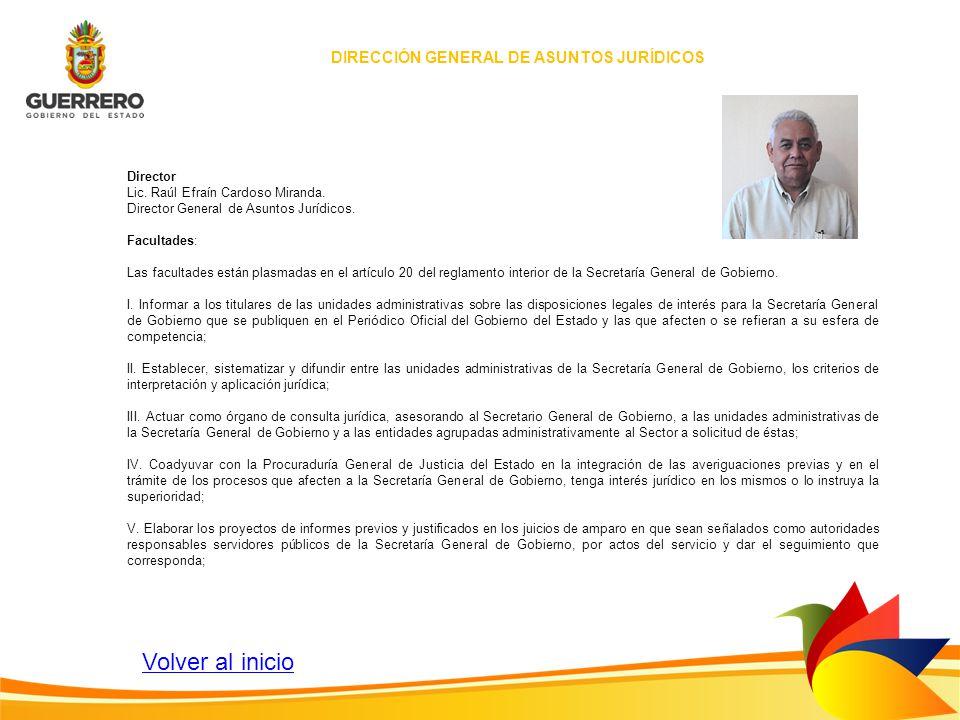 DIRECCIÓN GENERAL DE ASUNTOS JURÍDICOS