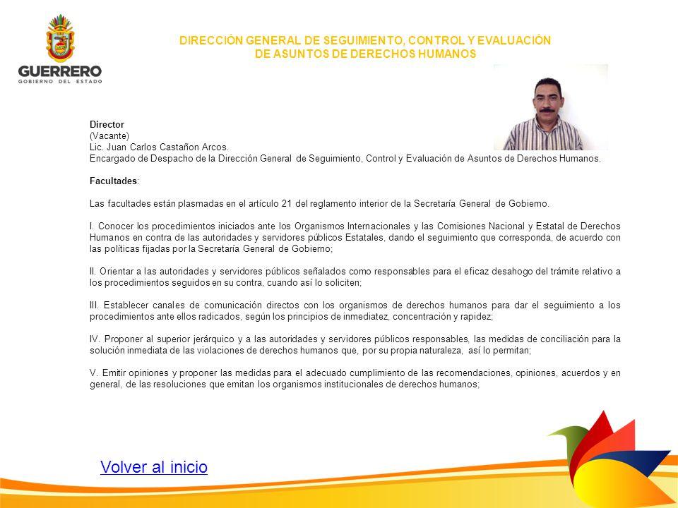 DIRECCIÓN GENERAL DE SEGUIMIENTO, CONTROL Y EVALUACIÓN DE ASUNTOS DE DERECHOS HUMANOS