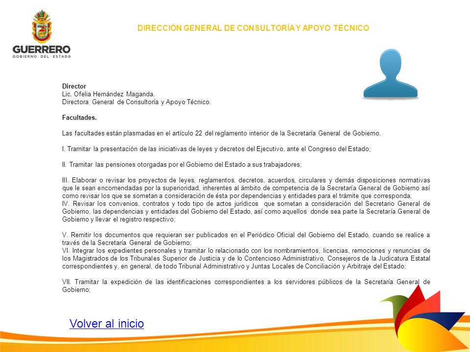 DIRECCIÓN GENERAL DE CONSULTORÍA Y APOYO TÉCNICO