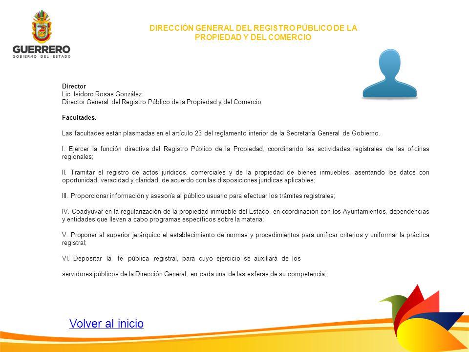 DIRECCIÓN GENERAL DEL REGISTRO PÚBLICO DE LA PROPIEDAD Y DEL COMERCIO