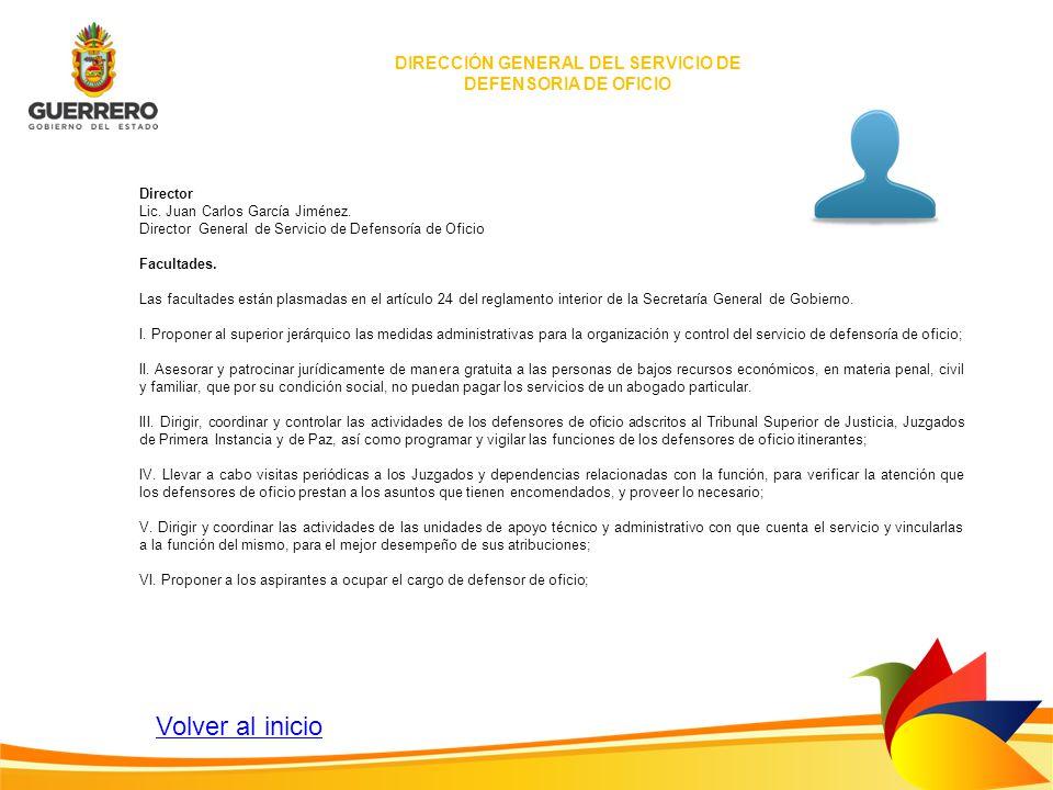 DIRECCIÓN GENERAL DEL SERVICIO DE