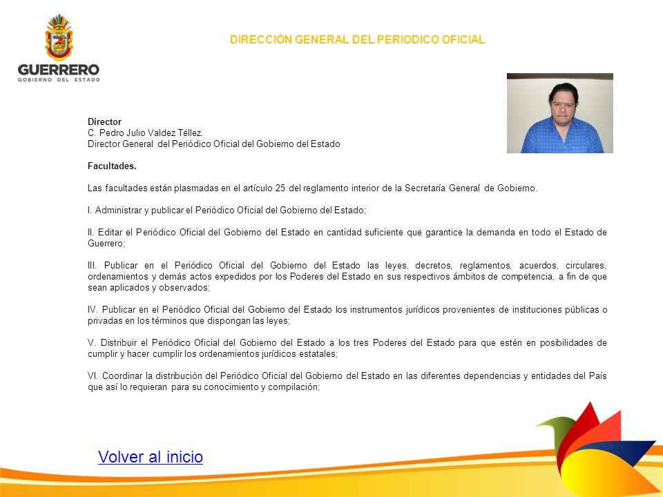 DIRECCIÓN GENERAL DEL PERIODICO OFICIAL