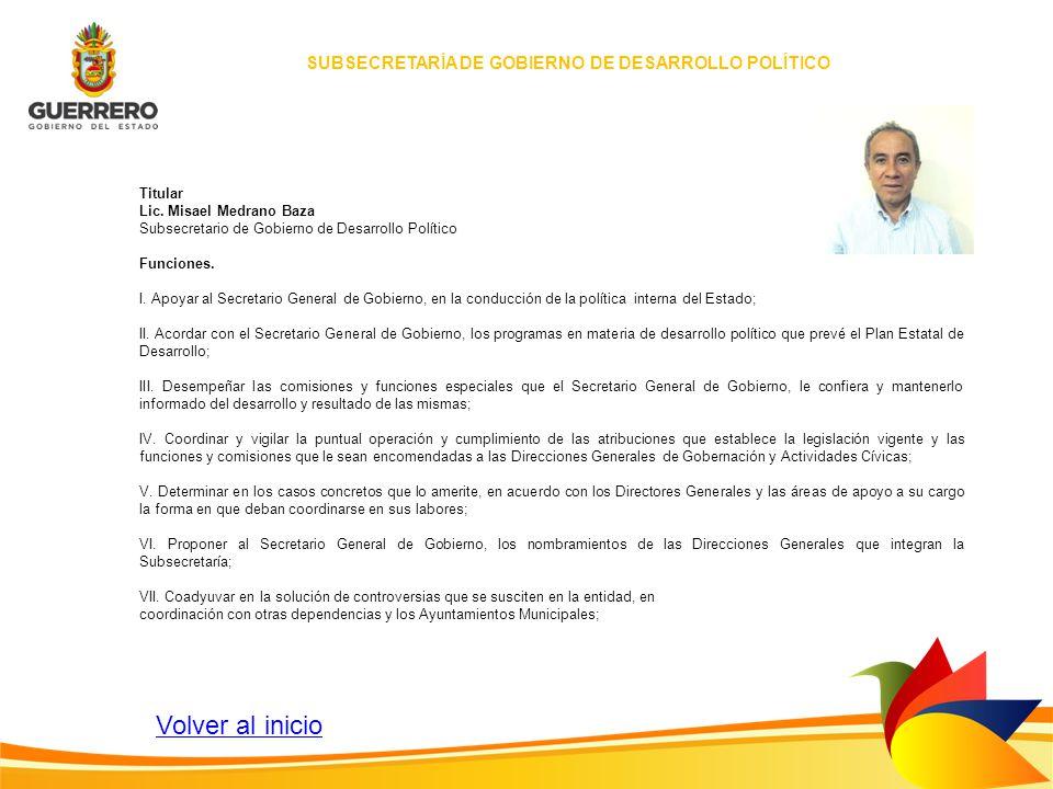 SUBSECRETARÍA DE GOBIERNO DE DESARROLLO POLÍTICO