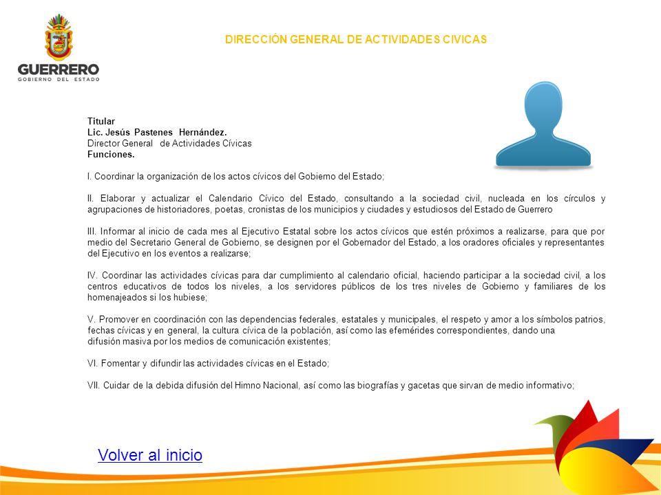 DIRECCIÓN GENERAL DE ACTIVIDADES CIVICAS