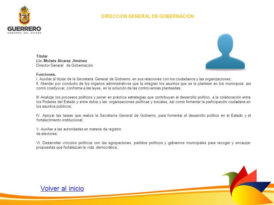 DIRECCIÓN GENERAL DE GOBERNACIÓN